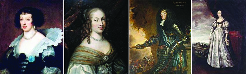 Princesse Henriette de Lorraine, Anne Geneviève de Bourbon, duchesse de Longueville, Louis II de Bourbon, et la Princesse de Nevers