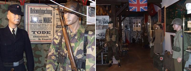 Matériel militaire au Musée de la Résistance de Forges